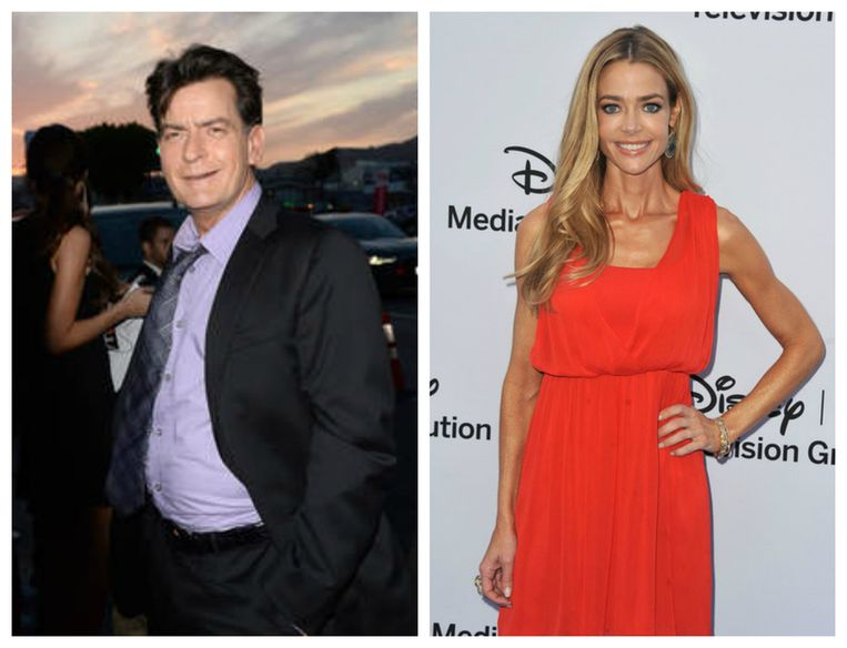 Charlie Sheen en Denise Richards.