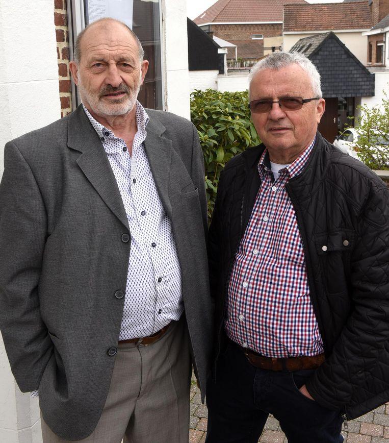 Roger en André maken een film over de West-Vlaamse volksverhuizing richting Gooik, in de Eerste Wereldoorlog.