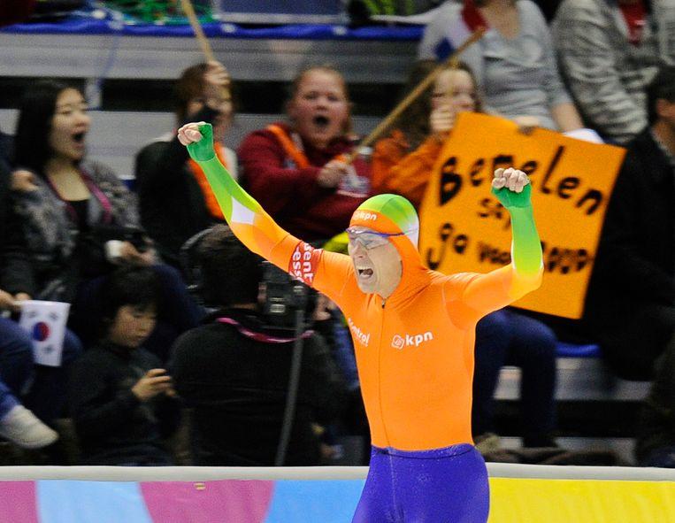 Stefan Groothuis is blij met de wereldtitel. Beeld reuters