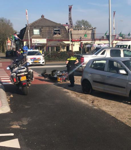 Motorrijder gewond bij aanrijding met auto op N224 bij Ede