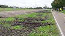 De sporen die de protesterende boeren hebben achtergelaten in De Bilt.