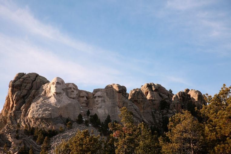 Het Mount Rushmore-monument in South Dakota.