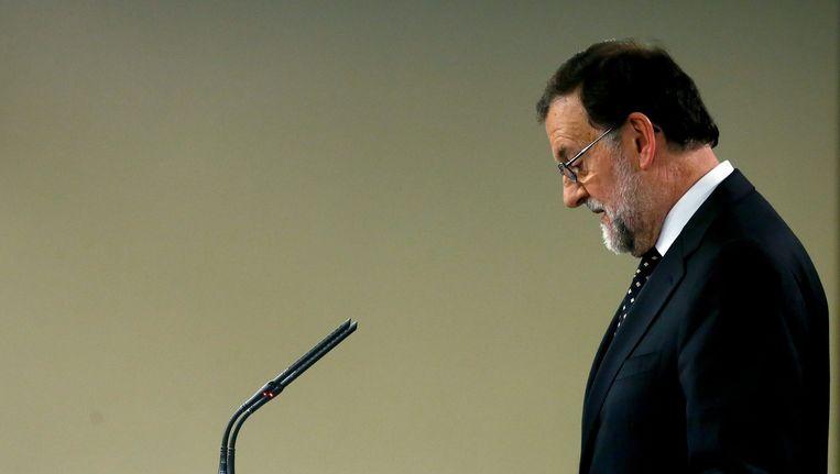 PP-leider Mariano Rajoy. Beeld epa