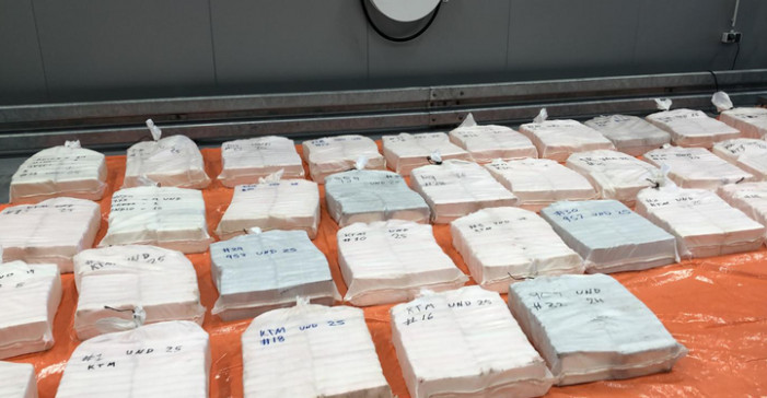 De bende werd opgepakt in een loods in Lot terwijl die 650 kilo cocaïne overlaadde in vier auto's.