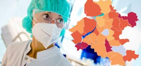 KAART | Flinke daling besmettingen in Oost-Nederland, slechts vier rode gemeenten
