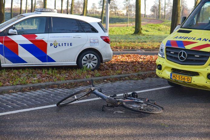 Ongeluk met fietser in Tilburg.