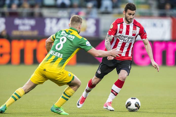 Met slechts tien goals is Gastón Pereiro topscorer van PSV.