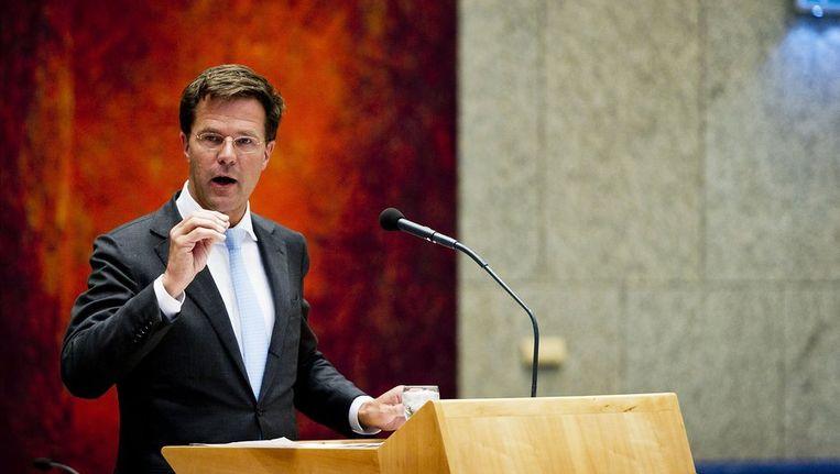 Mark Rutte in de Tweede Kamer Beeld null