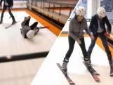 VVD-politica Annemarie Jorritsma maakt smakkerd in skischool
