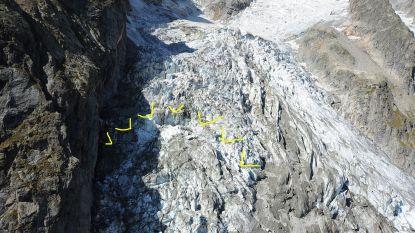 Gletsjer op Mont Blanc staat op instorten: 250.000 kubieke meter ijs dreigt af te breken