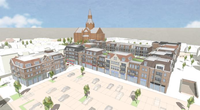 Het nieuwe Centrumplan Oost in Vught krijgt minder winkels en meer woningen.