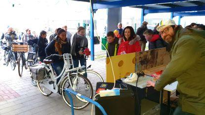 Sint-Pieter start Dikketruiendag met fietsdisco