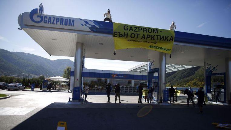 De Greenpeace-actie in Bulgarije Beeld reuters