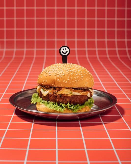 De hamburger van Future Farm.