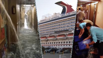 """""""We hoorden de Titanic-violen al"""": gang en kajuiten van cruiseschip overstromen door breuk in waterleiding"""