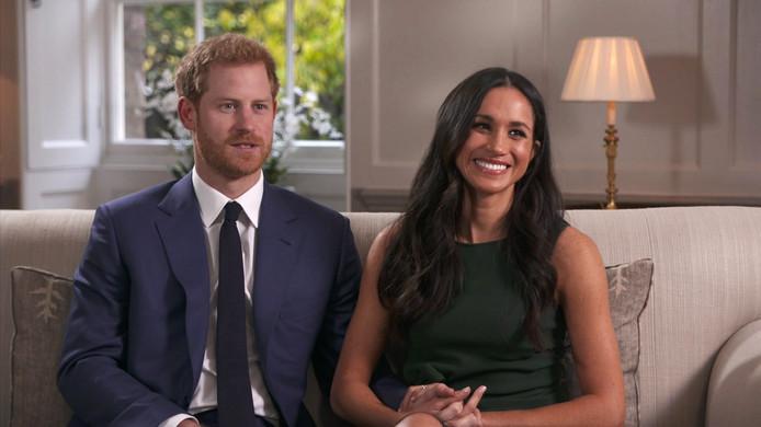 Prins Harry en Meghan tijdens het interview.