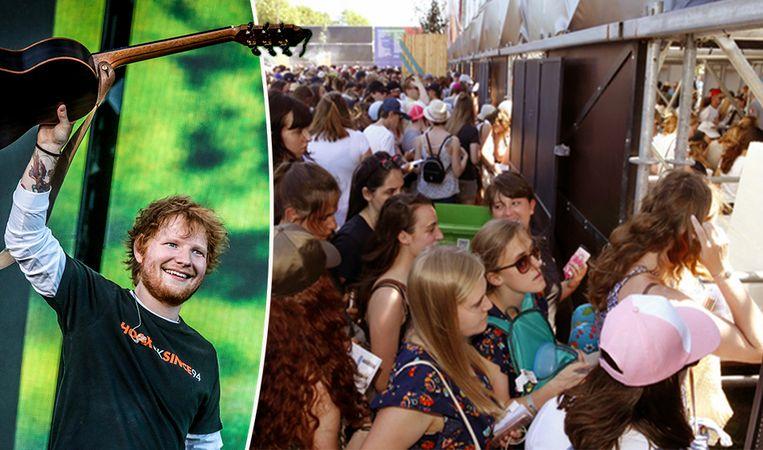 Ed Sheeran was geweldig, maar op de wei was het knokken.