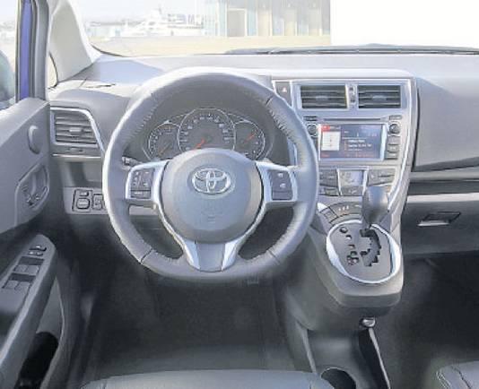 Toyota verso s niet op de rai wel bij de dealer for Goedkoop interieur