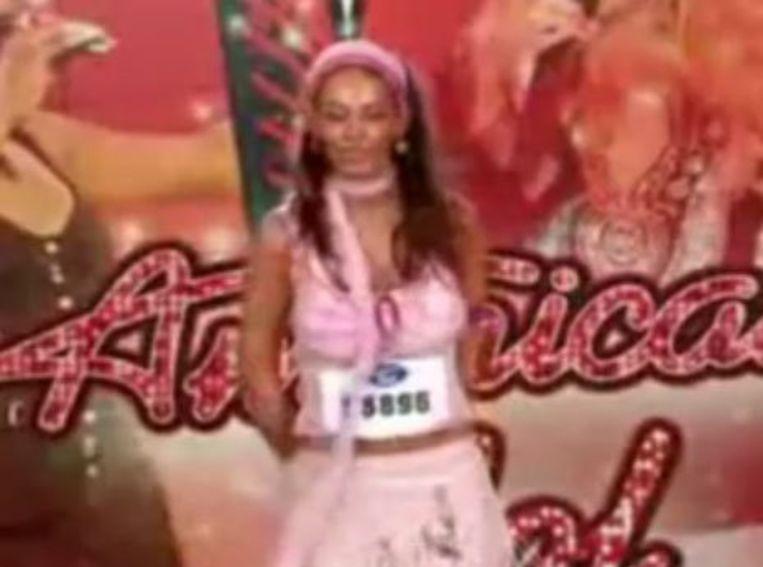 Paula Goodspeed deed in 2005 auditie voor American Idol. Volgens jurylid Paula Abdul had ze toen al gewaarschuwd dat Goodspeed een obsessieve fan was. Foto You Tube Beeld