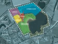 Slingeplas als recreatiepark met huisjes en feestterrein