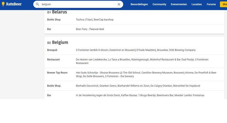 De Struise Brouwers en restaurant 't Molenhof behoren tot de beste volgens ratebeer.com