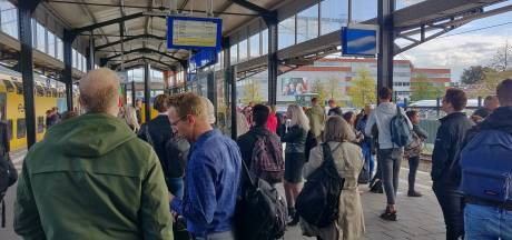 Chaos en drukte op Twentse stations door seinstoring bij Almelo