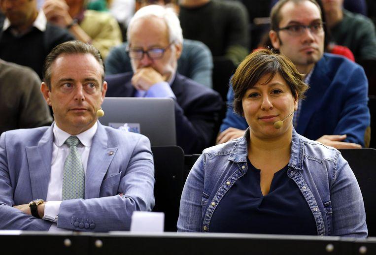 N-VA-voorzitter Bart De Wever en Groen-voorzitter Meyrem Almaci.