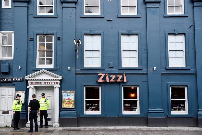 Restaurant Zizi in het Engelse Salisbury werd gesloten nadat Skripal op een nabijgelegen bankje werd aangetroffen. Ook vandaag gaat het onderzoek in de omgeving verder.