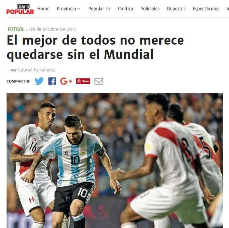 Diario Popular vindt dat Messi het verdient om naar het WK te gaan.