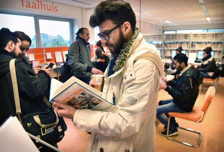 De tour komt ook langs de bibliotheek van Zoetermeer Beeld Marcel van den Bergh