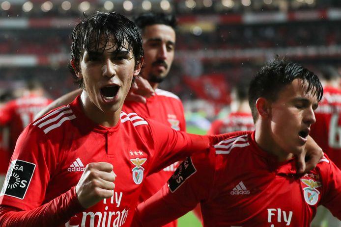João Félix (l), de negentienjarige sensatie van Benfica, is de nieuwe ster van het Portugese voetbal.