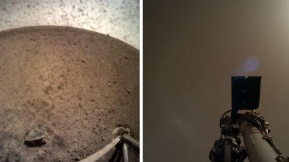 Marslander InSight stuurt nieuwe foto's door van de rode planeet