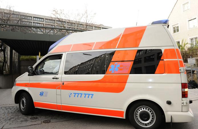 Een Duitse ambulance.