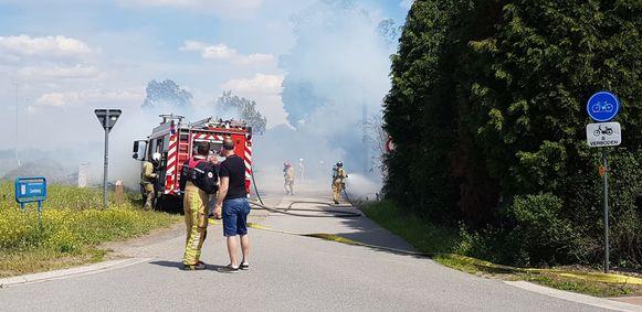 De brand aan het kruispunt van Zandberg en de Kruisstraat.