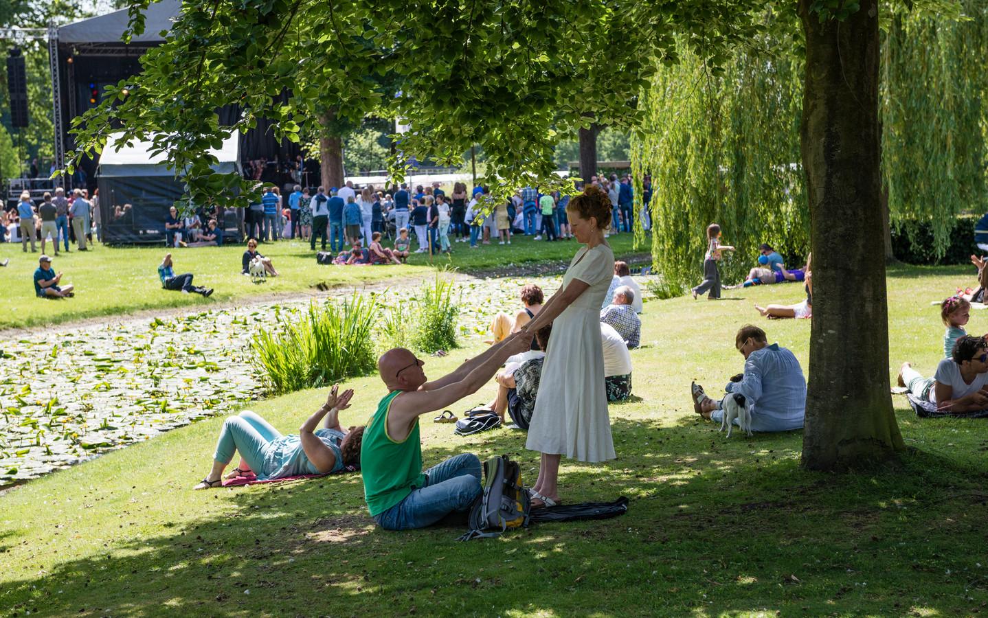 Een voorbeeld van het creatieve, bruisende en groene Enschede: Kunst in het Volkspark in 2019.