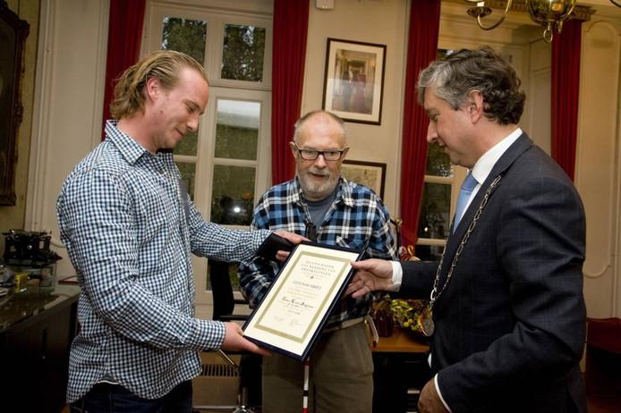 Johan van Bodegraven (links) redde het leven van Jaap van Rappard. Foto Raphaël Drent
