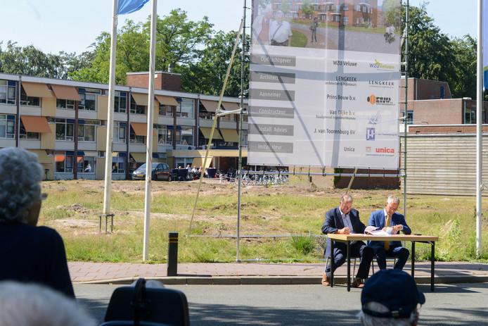 Afgelopen juni is het startschot gegeven voor de bouw van de nieuwe Bunterhoek in Nunspeet.