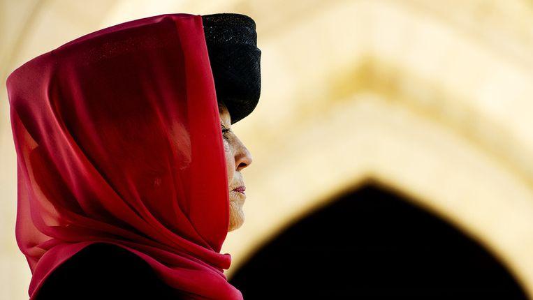 Koningin Beatrix tijdens haar bezoek aan Oman vorig jaar. Beeld ANP