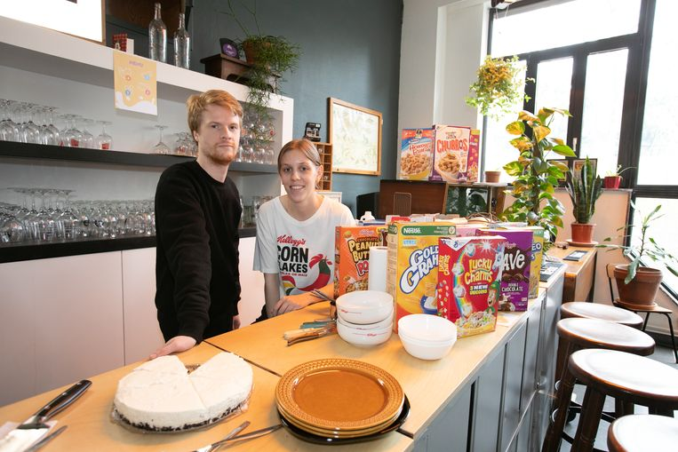 Cornflakesbar in De Serre in Hasselt Helga Hoogmartens en Pieter Baeyens