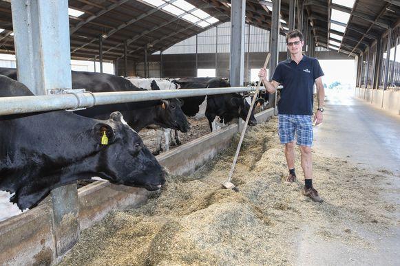 Melkveehouder Chris Steenhuyse kiest voor een duurzame manier van landbouw.