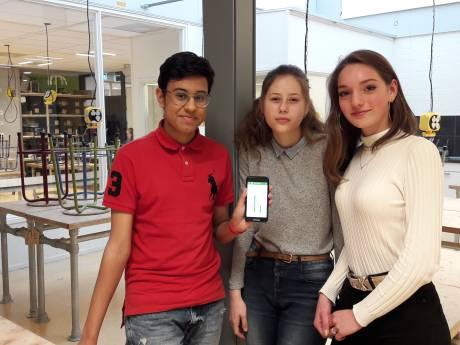 Leerlingen van 't Hooghe Landt bedenken app om energie te besparen