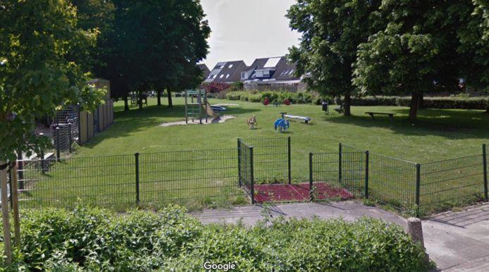 Een deel van de speeltuin aan het Rodingsveen in de wijk oost in 's-Heerenberg.