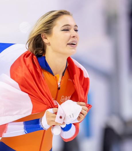Jutta Leerdam schittert met goud 'na race met hartslag van 200'