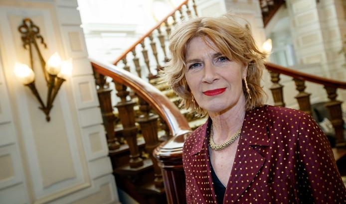 Mieke van der Weij tijdens de Libris Literatuur Prijs 2017.