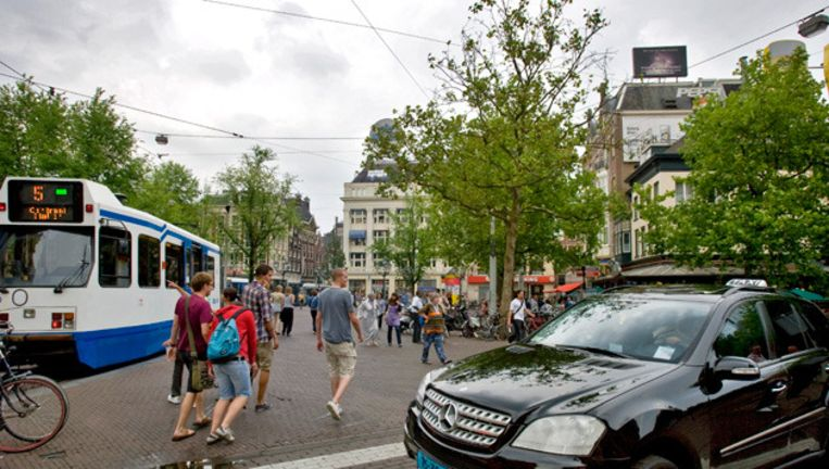 Het Leidseplein in Amsterdam. © anp Beeld