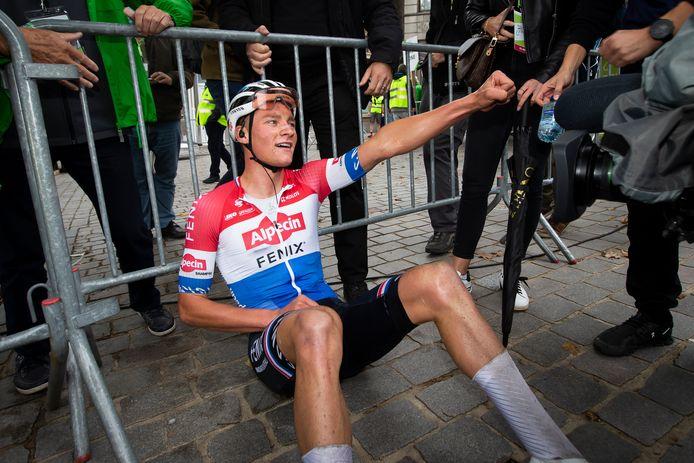 Van der Poel moe maar voldaan na zijn indrukwekkende solo in de Binckbank Tour.