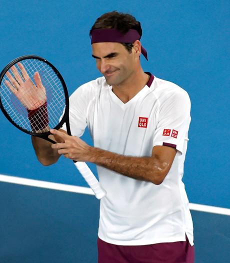 Federer voor vijftiende keer naar kwartfinale