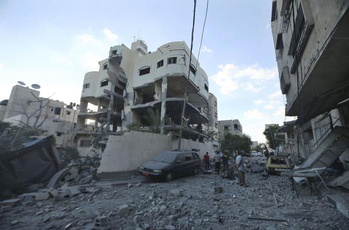 Le quartier de Mahmoud al-Zahar, haut responsable du Hamas.