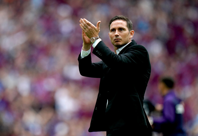 Frank Lampard, manager van Derby County.