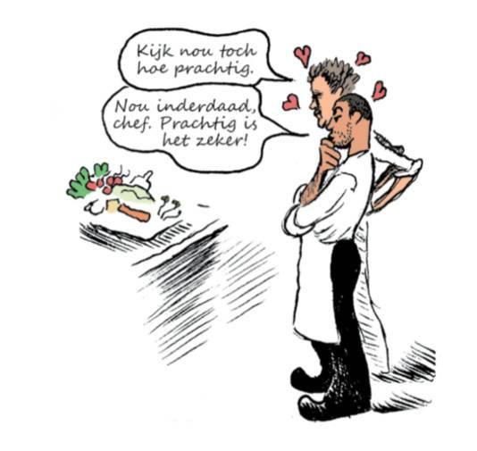 Beeld uit het stripboek dat Christophe Blain over het leven van Passard.